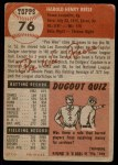 1953 Topps #76  Pee Wee Reese  Back Thumbnail