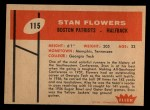 1960 Fleer #115  Stan Flowers  Back Thumbnail