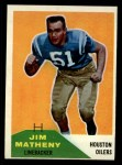 1960 Fleer #122  Jim Matheny  Front Thumbnail