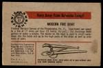 1953 Bowman Firefighters #57   Modern Fire Boat - Philadelphia Back Thumbnail