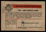 1953 Bowman Firefighters #37   1848 Hand Operated Engine Back Thumbnail