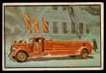 1953 Bowman Firefighters #10   Modern General Service Truck - Ward LaFrance Front Thumbnail