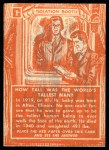 1957 Topps Isolation Booth #1   World's Tallest Man Back Thumbnail