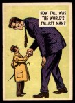 1957 Topps Isolation Booth #1   World's Tallest Man Front Thumbnail