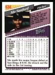 1993 Topps #634  Mo Sanford  Back Thumbnail