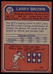 1973 Topps #220  Larry Brown  Back Thumbnail