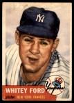 1953 Topps #207  Whitey Ford  Front Thumbnail