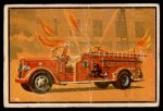 1953 Bowman Firefighters #1   Modern Fire Engine - Ward LaFrance Front Thumbnail