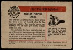 1953 Bowman Firefighters #12   Modern Pumping Engine - American LaFrance Back Thumbnail