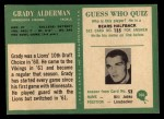 1966 Philadelphia #106  Grady Alderman  Back Thumbnail