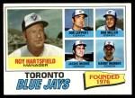 1977 Topps #113   -  Roy Hartsfield / Don Leppert / Bob Miller / Harry Warner / Jackie Moore Blue Jays Leaders Front Thumbnail