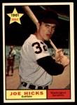 1961 Topps #386  Joe Hicks  Front Thumbnail