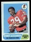 1968 Topps #191  Kermit Alexander  Front Thumbnail
