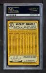 1968 Topps #280  Mickey Mantle  Back Thumbnail