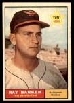 1961 Topps #428  Ray Barker  Front Thumbnail