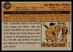 1960 Topps #169  Jake Striker  Back Thumbnail