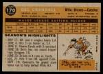 1960 Topps #170  Del Crandall  Back Thumbnail