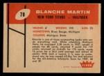 1960 Fleer #78  Blanche Martin  Back Thumbnail