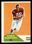 1960 Fleer #81  Chris Burford  Front Thumbnail