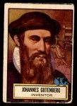 1952 Topps Look 'N See #129  Johannes Gutenberg  Front Thumbnail