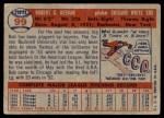 1957 Topps #99  Bob Keegan  Back Thumbnail