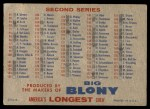 1957 Topps #0 BLO  Checklist - Series 1 & 2 Back Thumbnail