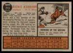 1962 Topps #213  Richie Ashburn  Back Thumbnail