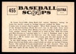 1961 Nu-Card Scoops #455   -   Babe Ruth Babe Ruth Hits 3 Homers In A Series Game Back Thumbnail
