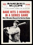 1961 Nu-Card Scoops #455   -   Babe Ruth Babe Ruth Hits 3 Homers In A Series Game Front Thumbnail
