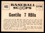 1961 Nu-Card Scoops #401   -  Jim Gentile Gentile Powers Birds into 1st Back Thumbnail