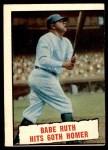 1961 Topps #401   -  Babe Ruth Hits 60th Homer Front Thumbnail