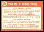 1964 Topps #556   -  Steve Dilion / Ron Locke Mets Rookies Back Thumbnail