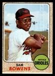 1968 Topps #82  Sam Bowens  Front Thumbnail