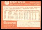 1964 Topps #374 xSTR Bobby Bolin  Back Thumbnail