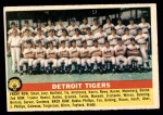 1956 Topps #213   Tigers Team Front Thumbnail