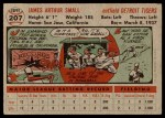 1956 Topps #207  Jim Small  Back Thumbnail