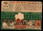 1954 Topps #1  Ted Williams  Back Thumbnail