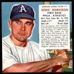 1953 Red Man #11 AL x Eddie Robinson  Front Thumbnail