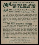 1954 Red Man #9 NL Del Rice  Back Thumbnail