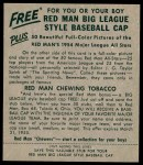1954 Red Man #4 BOS George Kell  Back Thumbnail