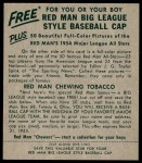 1954 Red Man #17 NL Rip Repulski  Back Thumbnail