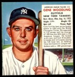 1953 Red Man #12 AL x Gene Woodling  Front Thumbnail