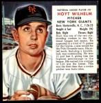 1953 Red Man #21 NL x Hoyt Wilhelm  Front Thumbnail