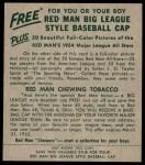 1954 Red Man #18 NL Robin Roberts  Back Thumbnail