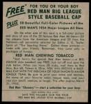 1954 Red Man #19 AL Chico Carrasquel  Back Thumbnail
