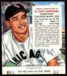 1954 Red Man #19 AL Chico Carrasquel  Front Thumbnail