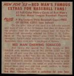 1953 Red Man #5 NL x Roy Campanella  Back Thumbnail