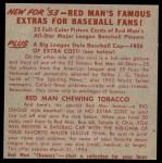 1953 Red Man #4 AL x Walt Dropo  Back Thumbnail