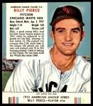 1953 Red Man #16 AL Billy Pierce  Front Thumbnail