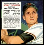 1953 Red Man #25 NL x Bobby Thomson  Front Thumbnail